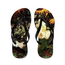 Roses And Sunflowers Flip Flops