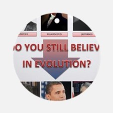 evolution Round Ornament