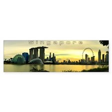 Singapore_8.31x3_mug_Skyline Bumper Sticker