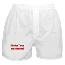Siberian Tigers are awesome Boxer Shorts