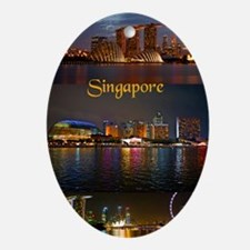 Singapore_2.41x4.42_iPhone3GHardCase Oval Ornament