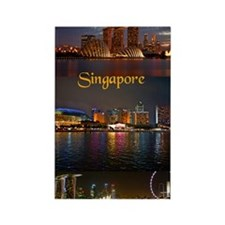 Singapore_2.41x4.42_iPhone3GHardC Rectangle Magnet