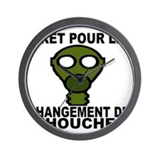 CHANGEMENT DE COUCHE - HOMME Wall Clock