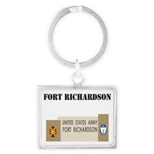 Fort Richardson with Text Landscape Keychain