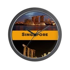 Singapore_6.9x9.10_iPad2 Case_Skyline Wall Clock
