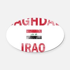 Baghdad Iraq Designs Oval Car Magnet