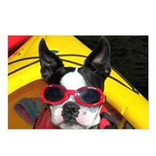 Red Goggled Boston Terrie Postcards (Package of 8)
