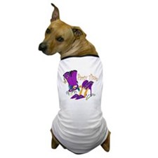 Party Time purple high heels Dog T-Shirt