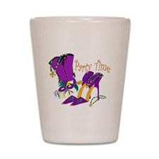 Party Time purple high heels Shot Glass