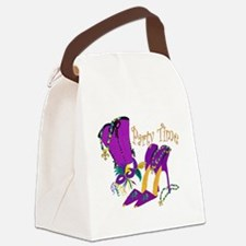 Party Time purple high heels Canvas Lunch Bag