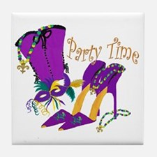 Party Time purple high heels Tile Coaster