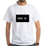 Fade in/Fade out White T-Shirt