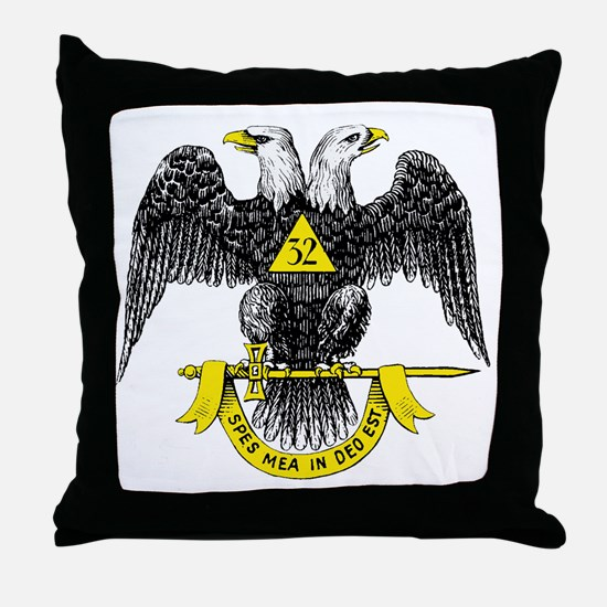 Freemasonry Scottish Rite Throw Pillow