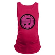 Cute Hot Pink and Black Music N Maternity Tank Top