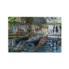 Bathers at La Grenouillere Rectangle Magnet