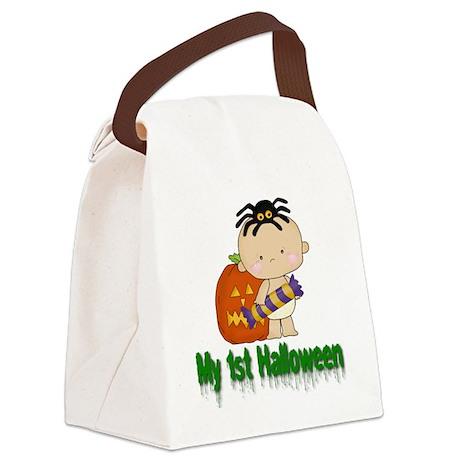 My 1st Halloween Canvas Lunch Bag