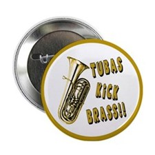 Tubas Kick Brass Button