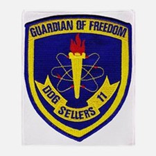 uss sellers patch transparent Throw Blanket