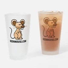 Apron Keen Mouse Mascot Drinking Glass