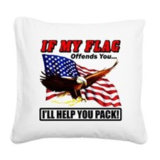 offends8 Square Canvas Pillow