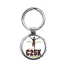 C25K Grad (Women) Round Keychain