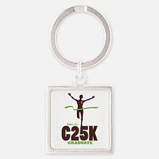 C25K Grad (Women) Square Keychain