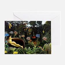 Henri Rousseau The Dream. Greeting Card