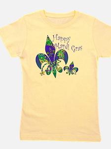 Mardi Gras Carnival Fleur de lis Girl's Tee