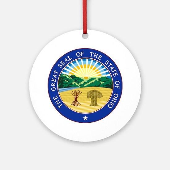 Ohio State Seal Round Ornament