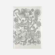 Doodle #14 Rectangle Magnet