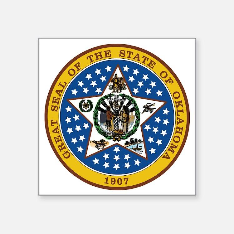 "Oklahoma State Seal Square Sticker 3"" x 3"""