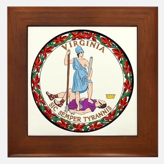 Virginia State Seal Framed Tile
