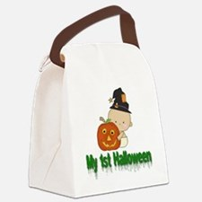 My 1st Halloween Canvas Lunch Bag