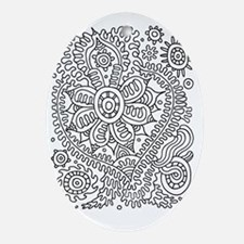 Doodle #22 Oval Ornament