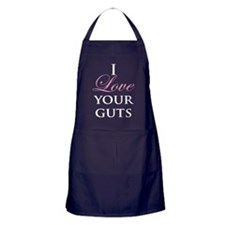 Love Your Guts White Apron (dark)