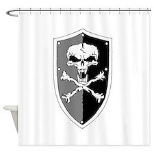 Skull Shield Shower Curtain