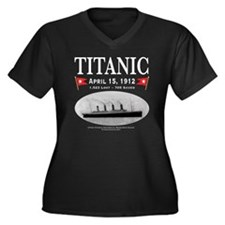 TG212x12pngT Women's Plus Size Dark V-Neck T-Shirt