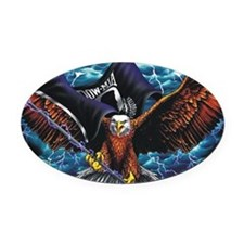 POW MIA Eagle Oval Car Magnet