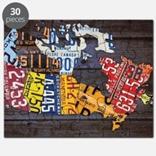 License Plate Map of Canada by Design Turnp Puzzle