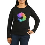 Day-Glo Flowers Women's Long Sleeve Dark T-Shirt