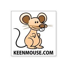 "Plush Bunny Keen Mouse Masc Square Sticker 3"" x 3"""
