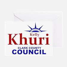 KhuriLibertyCrown Greeting Card