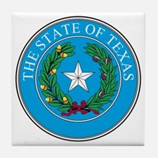 Texas State Seal Tile Coaster