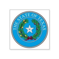 "Texas State Seal Square Sticker 3"" x 3"""
