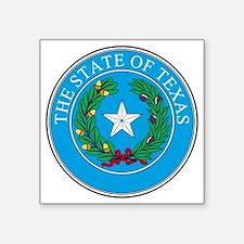 "Texas State Seal Square Sticker 3"" x 3"""