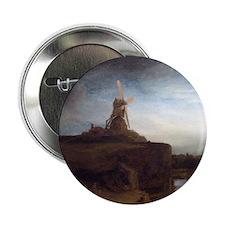 "Rembrandt van Rijn The Mill 2.25"" Button"