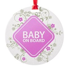 Baby on Board - Girl Ornament