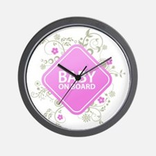 Baby on Board - Girl Wall Clock