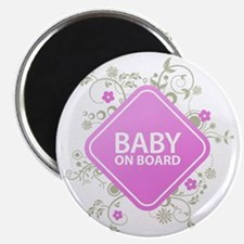 Baby on Board - Girl Magnet