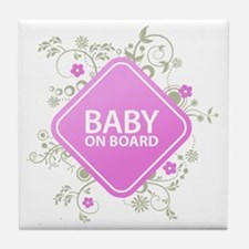 Baby on Board - Girl Tile Coaster